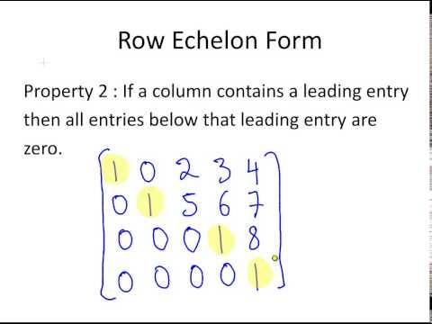Row Echelon Form of a Matrix