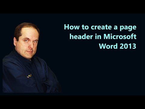 How to create a page header in Microsoft Word 2013