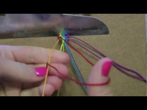 How to make Friendship Bracelets: Vertical Stripes
