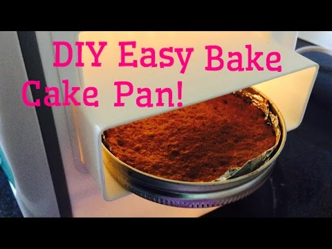 DIY Easy Bake Oven CAKE PAN AND RESULTS!