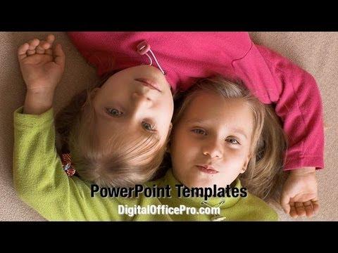 Twins PowerPoint Template Backgrounds - DigitalOfficePro #07607W