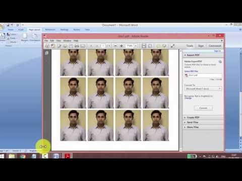 how to print multiple passport size photos without photoshop and coral draw ( in marathi )