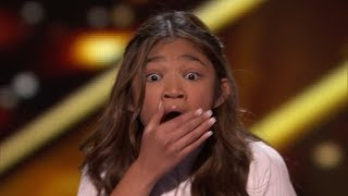 Super Star Angelica Hale Earns GOLDEN BUZZER sings 'Fight Song' America's Got Talent: The Champions