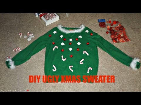 LAST MINUTE DIY Ugly Christmas Sweater | Collab with Mac&Chic