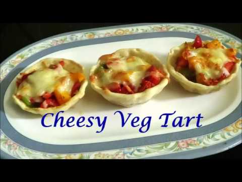 Cheesy Veg Tart   How To Make Mini Tart Shell