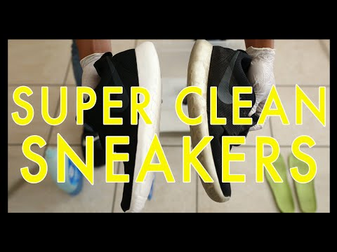 How To Clean Dirty Sneakers Tutorial using Household products!