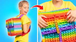 Pop It College! How to Sneak Viral TikTok Fidget Toys into College Part 2!