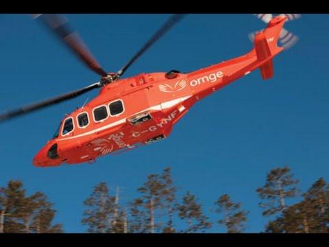 AW-139 Helicopter by AgustaWestland. ORNGE Air Ambulance Ottawa Ontario