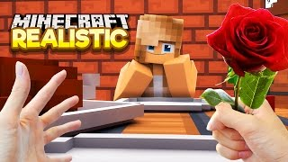 Realistic Minecraft - FIRST DATE WITH MY GIRLFRIEND IN REAL LIFE!