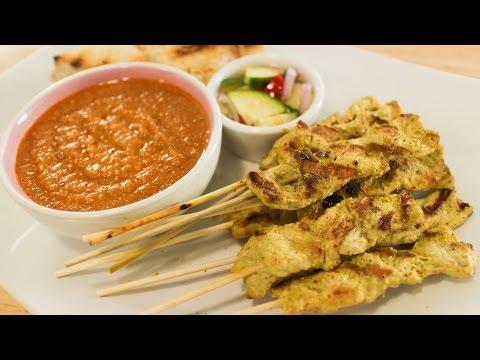 Satay & Peanut Sauce Recipe หมูสะเต๊ะ - Hot Thai Kitchen!