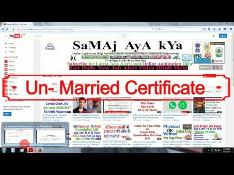 Un Married Certificate Format | Indian Army | Download Pdf | Filling Procss