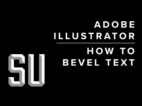 How to Bevel Text in Adobe Illustrator CC