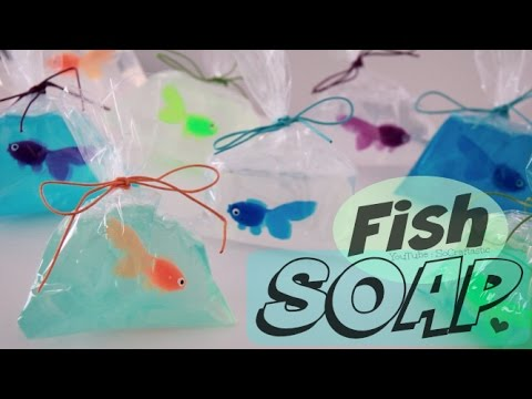 DIY FISH in a bag SOAP | Soap Making For Beginners | SoCraftastic