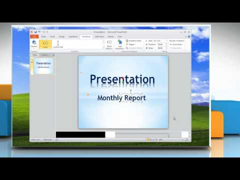 Microsoft® PowerPoint 2010: How to animate text in a presentation on Windows® XP?