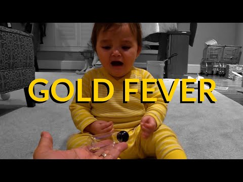 Hilarious! Baby Gold Nugget Fever!