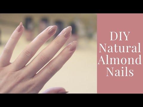 DIY Natural Almond Nails   Cheap   No Salon!   The Apres Gal
