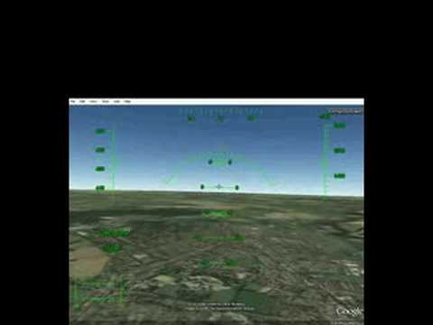 how to take off and land on google earth flight simulater