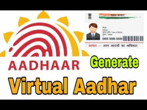 How to Generate Virtual Aadhar   16 digit virtual Aadhar