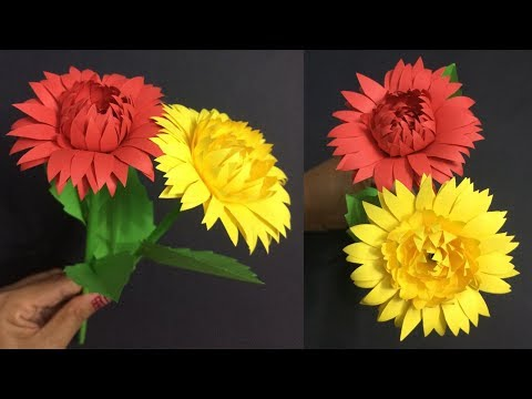 How to Make Beautiful Paper Flower | Making Paper Flowers Step by Step | DIY-Paper Crafts