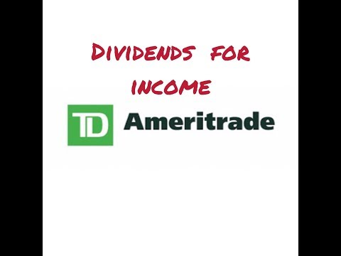 How to use dividends for income W/ TD Ameritrade (4 min)