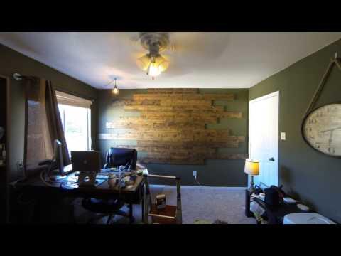 Wood Panel Wall Install