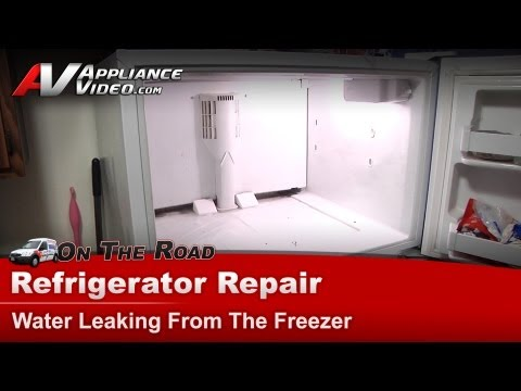 Refrigerator Diagnostic & Repair-Water leaking,Kenmore,Sears,Whirlpool,KitchenAid,Roper