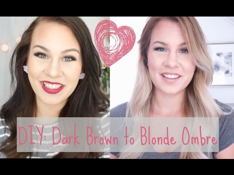 DIY: Dark Brown to Blonde Ombre/Balayage at Home