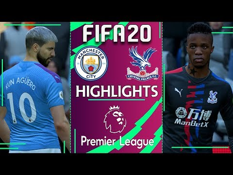 Manchester City vs Crystal Palace | FIFA 20 PREMIER LEAGUE 2019/20 | Gameweek 23 Highlights