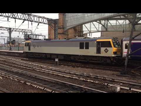 Caledonian Sleeper Train Arrives at Glasgow