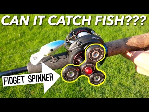 DIY FIDGET SPINNER FISHING REEL CHALLENGE!!!--Step-by-step Tutorial