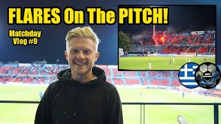 GREEK SUPER LEAGUE! Panionios FC v OFI Crete - Matchday Vlog #9 - More Passionate Football Fans!!