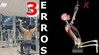 Evite esses 3 Erros Se Quer Mais Hipertrofia (Pulley Costas) - Detonando em Cinesiologia