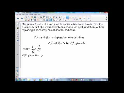 Alg II sec9,7 Probability of independent and dependent events