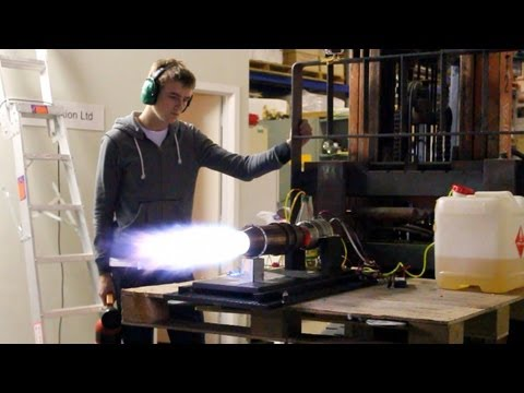 Model Turbine Afterburner Testing