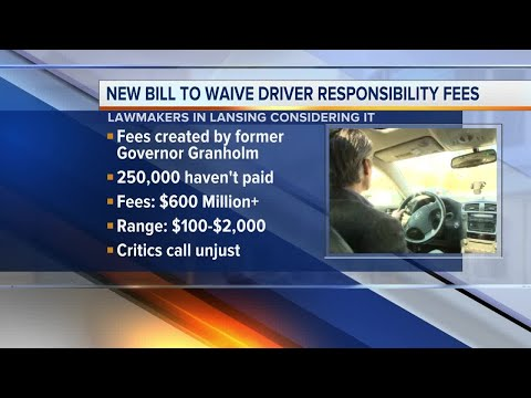 New bill would waive Michigan driver responsibility fees