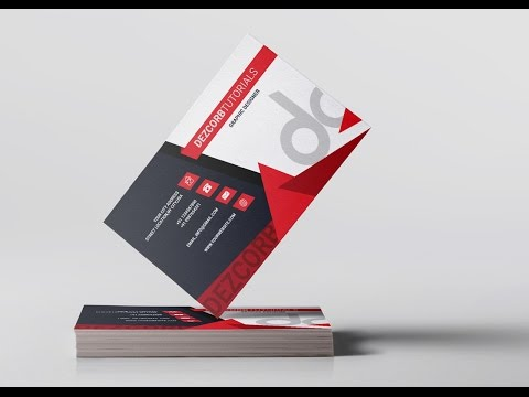 Business card design in photoshop cs6 | Back | Red | Gray