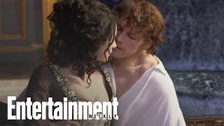 Outlander Behind The Scenes With Sam Heughan Caitriona Balfe Entertai
