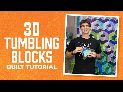 Make a 3D Tumbling Blocks Quilt with Rob!