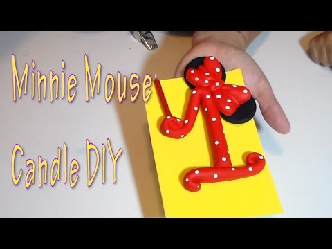 Craft DIY: Minnie Mouse Candle Tutorial / Cup N Cakes Gourmet