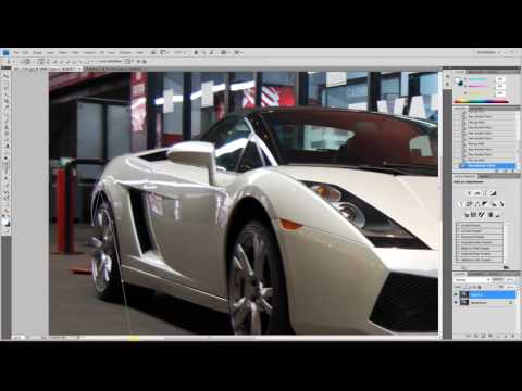 replacing the car's color - Photoshop cs4