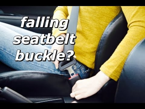 EASY DIY Replace Seatbelt Buckle Stop Stopper Button - Prevent Falling Seat Belt Buckle