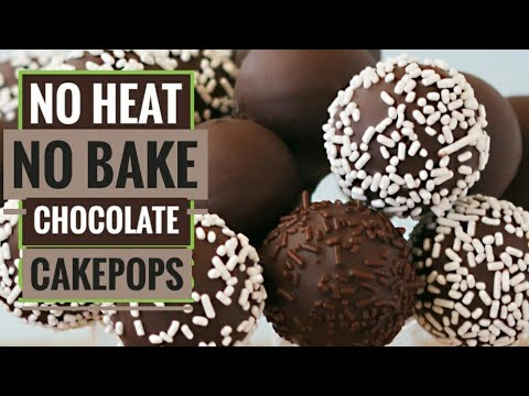 Chocolatey cake pops/ how to reuse leftover cake / no heat, No Bake/ cooking without fire /