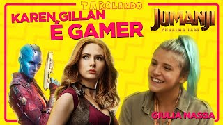 Os GAMES FAVORITOS da KAREN GILLAN de JUMANJI: PRÓXIMA FASE (e GUARDIÕES DA GALÁXIA)