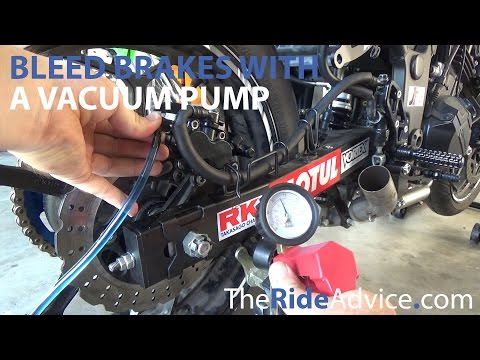 How to Bleed Motorcycle Brakes with a Vacuum Pump