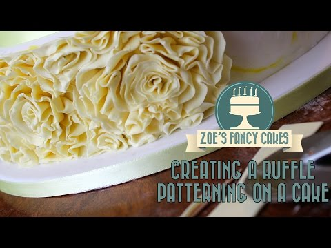 Creating a ruffle patterning on a cake How To Cake Tutorial