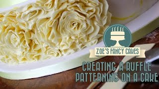 Download Creating a ruffle patterning on a cake How To Cake Tutorial Video