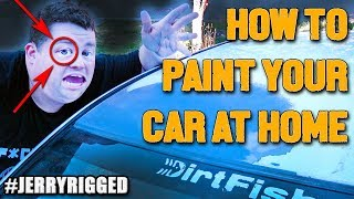 How to paint your CAR at home on a BUDGET very quickly with SPRAYPAINT