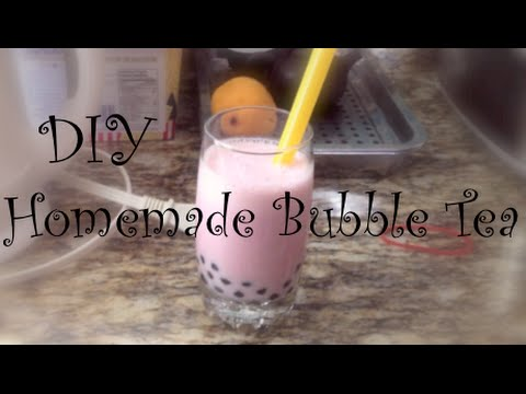 Homemade Strawberry Bubble Tea
