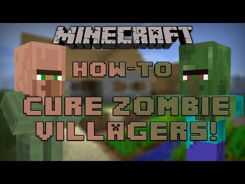 Minecraft HOW TO: CURE A ZOMBIE VILLAGER! 1.6!