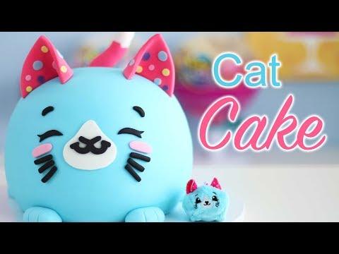 Cutest CAT CAKE that Tastes like BUBBLE GUM! Ft. Pikmi Pops